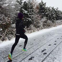 Fresh run through the winter snow