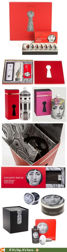 Nice packaging for all the products in Fornasetti's Profumi Per La Casa Collection PD