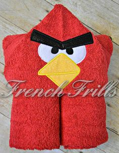 Hey, I found this really awesome Etsy listing at https://www.etsy.com/listing/215021820/set-both-5x7-4x4-red-bird-hooded-towel