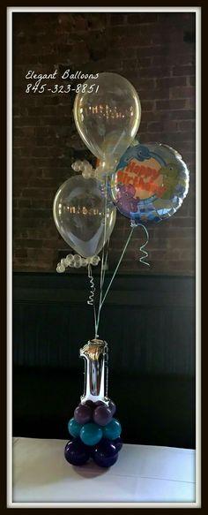 Balloon Centerpieces, Balloon Bouquet, Snow Globes, Balloons, Home Decor, Globes, Decoration Home, Room Decor, Balloon