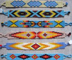 Bead Loom Bracelets, Beaded Bracelet Patterns, Friendship Bracelet Patterns, Jewelry Patterns, Beaded Jewelry, Jewellery, Beading Patterns Free, Seed Bead Patterns, Native Beadwork