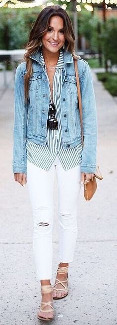 101 Style Tips To Wear A Striped Outfits - Fazhion 1a49ca1069f