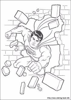 dibujos para colorear de superman en linea