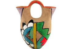 SOLD! 1960's Tourist Wedding Vase with Neon decoration on @One Kings Lane Vintage & Market Finds by Ruby + George