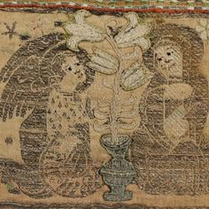 Borte (Fragment) 15th Century, Hand Embroidery, Vintage World Maps, Banner, Miniatures, Retro, Pictures, Mary, Letters