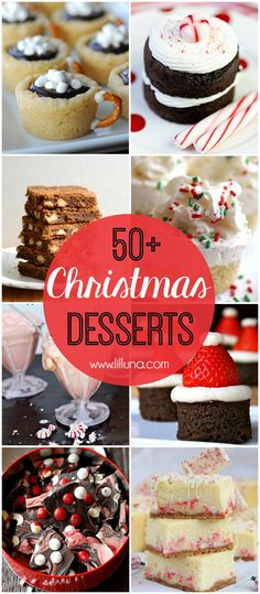 50 Christmas Desserts - A Roundup Of Must See Desserts, Perfect For Christmas Parties, And Neighborhood Gifts Christmas Deserts, Christmas Party Food, Xmas Food, Christmas Cooking, Köstliche Desserts, Holiday Desserts, Holiday Baking, Holiday Treats, Holiday Recipes