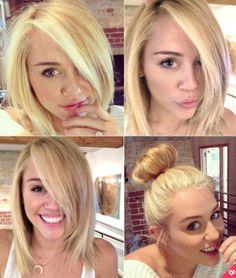Ok, I dislike Miley but that is one cute haircut!