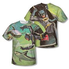 Batman Classic TV - Underwater Adult All Over Print 100% Poly T-Shirt