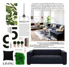 """Living room"" by elena-kov ❤ liked on Polyvore featuring interior, interiors, interior design, home, home decor, interior decorating, JAG Zoeppritz, Kate Spade, Maison Margiela and living room"