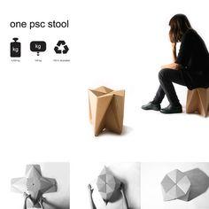 ONE PCS STOOL by Denitsa Boyadzhieva, via Behance
