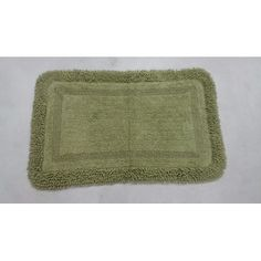 "Ess Ess Exports Westlake Bath Rug Color: Green, Size: 21"" W x 34"" L"