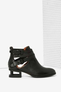 Jeffrey Campbell Everly Cutout Boot - Matte Black - Boots