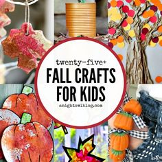 Get ready for Fall with these awesome Fall Crafts for Kids - trees, pumpkins and MORE!