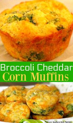 Moist and delicious these Broccoli Cheddar Corn Muffins are a single serving spin off of my ever popular broccoli cheese cornbread. Broccoli Cornbread, Jiffy Cornbread, Cornbread Casserole, Broccoli Cheddar, Cornbread Recipes, Casserole Recipes, Muffin Tin Recipes, Muffin Tins, Homemade Muffins