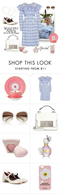 """There will be love!"" by juliabachmann ❤ liked on Polyvore featuring Royal Albert, Miu Miu, Oliver Peoples, Marc Jacobs and Iphoria"