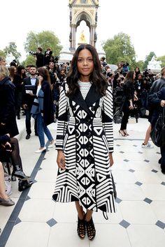 Naomie Harris at London Fashion Week