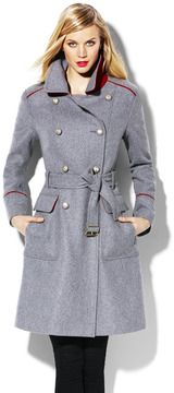Wool Military Coat on shopstyle.com