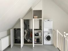 Woman Cave, Attic Renovation, Attic Rooms, Home Hacks, Ikea Hack, Creative Home, Home Projects, Laundry Room, Armoire