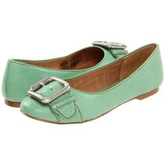mint flat with buckle detail