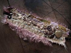 salvage textile wrist cuff