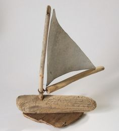 DRIFTWOOD YATCH OR SAILING BOAT WITH ALUMINIUM SAILS. Designed by William John Fox in Southwick