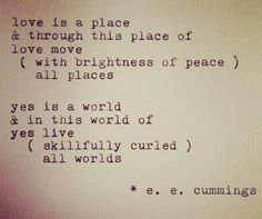 E Cummings Love Poem Typewriter Vintage Wedding