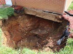 """""""If left alone a sinkhole could eventually damage a house's foundation even if it's in the yard"""" - from Tennessee Sinkholes Create Never Ending Battle - NewsChannel5.com 