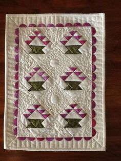 Miniature quilt pattern BASKETS by AnniesQuiltCraft on Etsy, $7.00