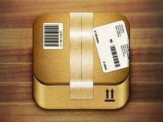 Dribbble - Cardboard Box Icon by James Cipriano