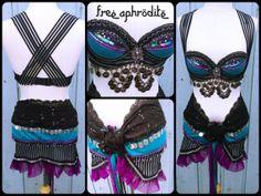 Belly Dance. Burning Man. Rave Bra. Burlesque. by FreeAphrodite