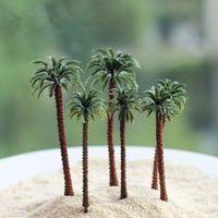 Bonito coqueiro artificial Enfeites miniaturas para fada do jardim gnome resina artesanato bonsai garrafa de decoração de jardim