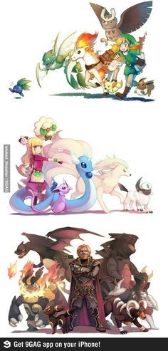 If Zelda characters were Pokémon trainers.  Miss. Dan