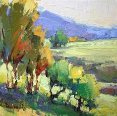 """Daily+Paintworks+-+""""Spring+Meadow""""+-+Original+Fine+Art+for+Sale+-+©+Cathleen+Rehfeld"""