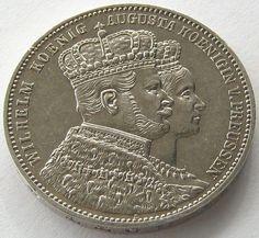 German States, Prussia, Silver Coin, 1 Thaler 1861 A, TOP High Grade, AUN !