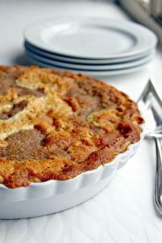 Warm Buttermilk Custard Apple Pie