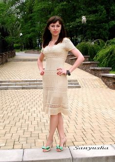 """Платье """"Изумруд"""" по мотивам Джованны Диас - Вязание - Страна Мам  http://www.liveinternet.ru/users/4158673/post353799826/"""