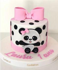 Baby Cakes, Girl Cakes, Cupcake Cakes, Panda Themed Party, Panda Party, Panda Birthday Cake, Birthday Cake Girls, Food Coloring Chart, Bolo Panda
