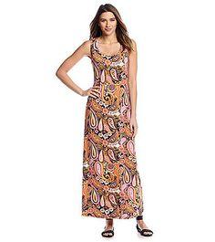 Notations® Paisley Print Maxi Dress   Carson's