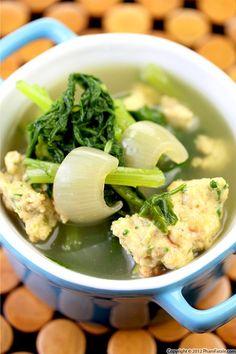 Vietnamese Chrysanthemum and Shrimp Soup