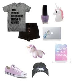 """Tag A Unicorn!"" by delgadoelisa ❤ liked on Polyvore featuring Miss Selfridge, Aurora World, OPI, River Island, Converse, Vinyl Revolution, Ohh Deer and Tallulah's Threads"