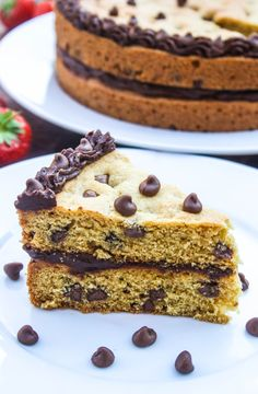 Chocolate Fudge Cookie Cake