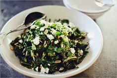 """Emerald Salad"" - Roasted Brocolli & Leek Salad w/ Parsley, Feta & Toasted Almonds"