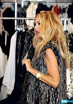 Rachel Zoe + fur = perfection