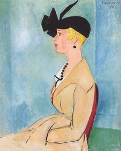 Young Lady in a Black Hat - Einar Jolin