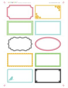 Labels - free printable for DIY crafting.  Paper craft, organizing & labeling printable.