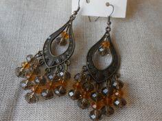 orecchini pendenti fatti a mano in bronzo e cristalli , by Le gioie di  Pippilella, 7,00 € su misshobby.com