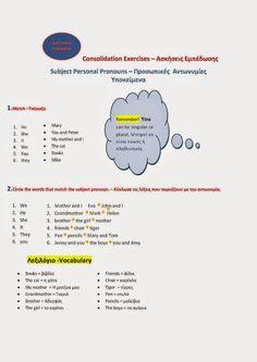 Αγγλική Παιδεία : Subject Personal Pronouns - Προσωπικές Αντωνυμίες ...