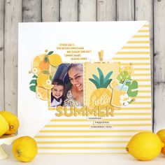 Monochromatic doesn't have to be bland -- check out @evapizarrov's bright, colorful yellow layout on the Pebbles blog.