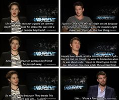 """Who gives the best on camera boyfriend?"" ~Divergent~ ~Insurgent~ ~Allegiant~"