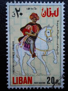 Stamps, covers and postcards of traditional/folk costumes: Stamps / Costumes - Lebanon / Libanas